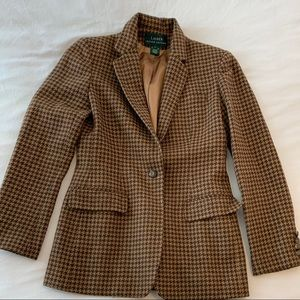Ralph Lauren wool/angora houndstooth blazer 4